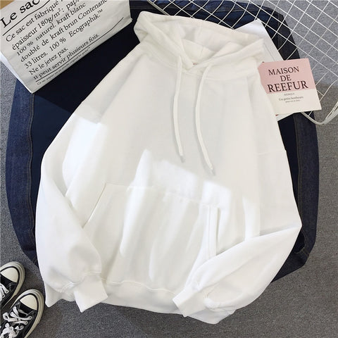 Basic white hoodie - Carpe Item