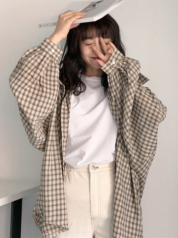 Oversized plaid shirt - Carpe Item