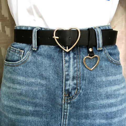 Heart Leather Belt - Carpe Item