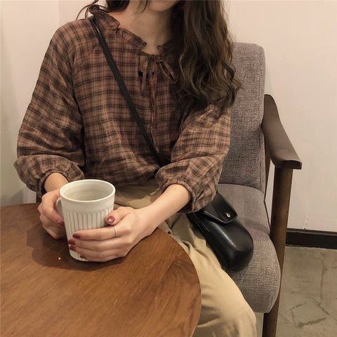Brown vintage blouse - Carpe Item