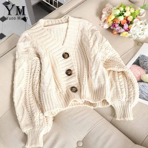 Cropped cardigan sweater - Carpe Item