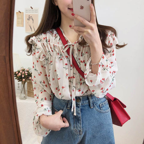 Roses vintage blouse - Carpe Item
