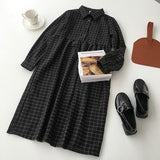 Plaid black dress - Carpe Item