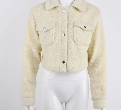 Cropped teddy jacket - Carpe Item