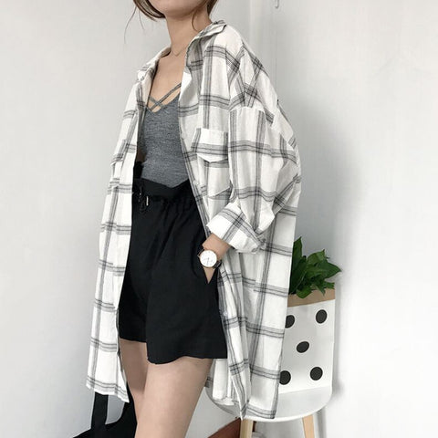 Plaid jacket shirts - Carpe Item