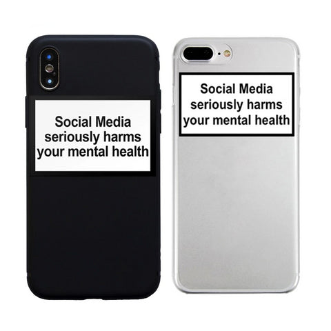 """Social media seriously harms your mental health"" IOS phonecase - Carpe Item"
