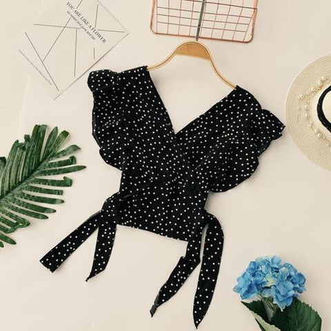 Spring dotted blouse - Carpe Item