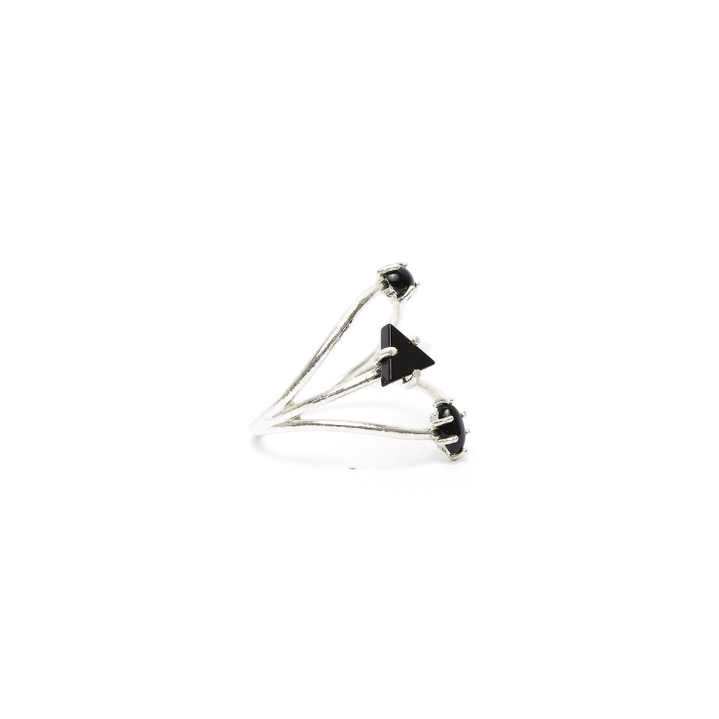 Black Onyx Constellation Ring