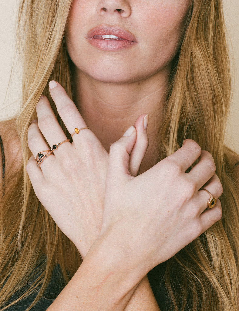 The Commune Black Diamond Ring