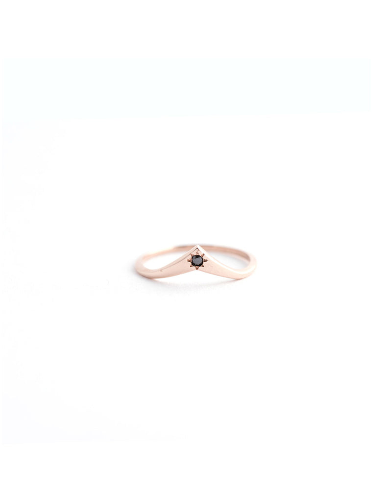 Genie Ring with White or Black Diamond