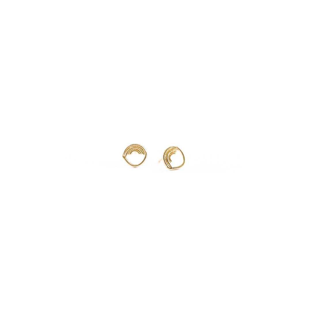 Currency Gold Stud Earrings