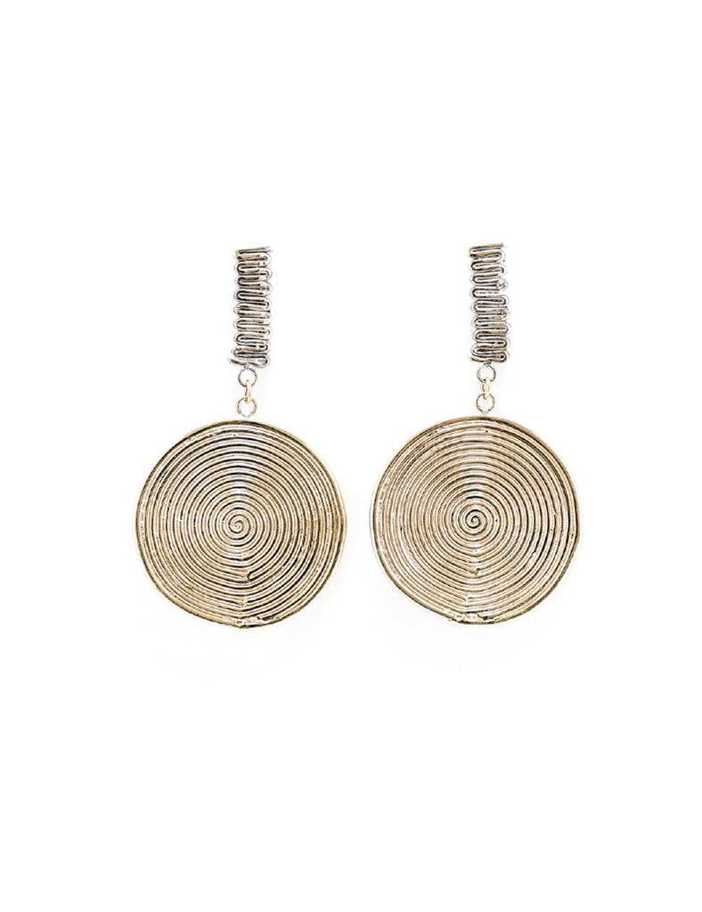 Spiral Jetty Drop Earrings