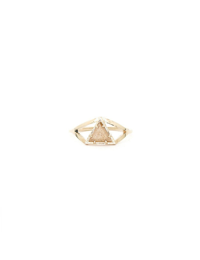 The Veela Ring - Peach Moonstone