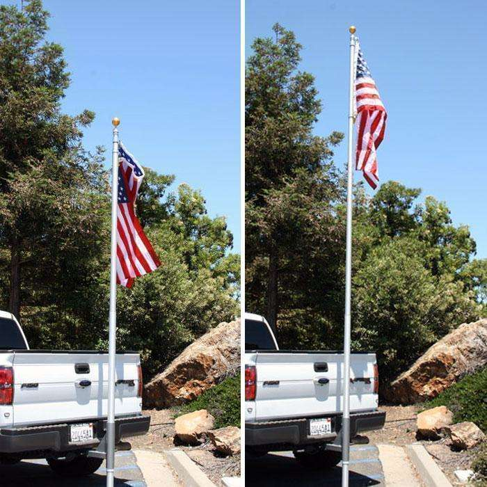 20' Foot Base Camp Telescoping Antenna Flag Pole