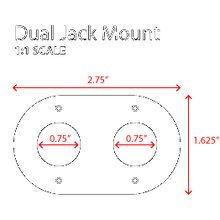Load image into Gallery viewer, Dual Headset / Helmet Nexus Jack Flush Mount