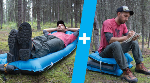Windcatcher AirPad 2+ in both sleeping pad and seat mode