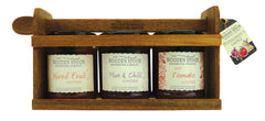 Ploughman's Choice: Hot Tomato Chutney, Fruit Chutney, Plum & Chilli Chutney 3 x 284g
