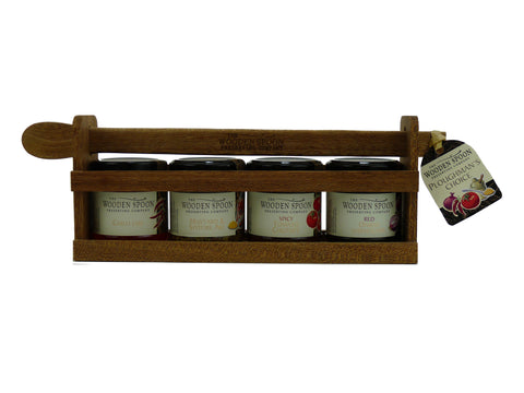 Ploughman's Choice: Red Onion Marmalade, Mustard & Ale, Hot Tomato Chutney, Chilli Jam  4 x 113g