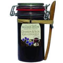 Damson Extra Jam & Sloe Gin Kilner with Spoon