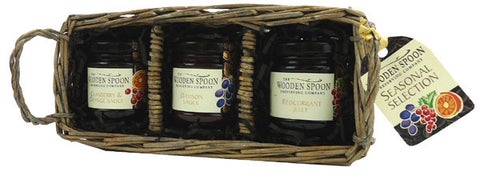 Seasonal Selection: Cranberry & Orange Sauce, Damson Sauce, Redcurrant Jelly  3 x 113g