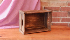 Brown Apple Crate with Corner Posts