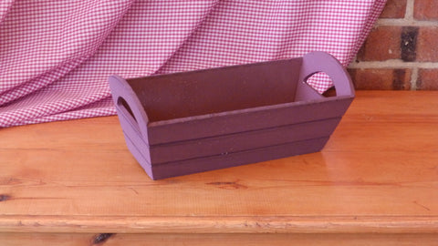 Purple Wooden Tray with Handles