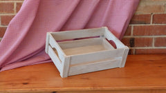 White Apple Crate with Corner Posts