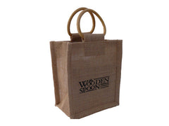 Canvas bag with wooden handles
