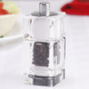 "01550 3.5"" Cubic Salt Shaker & Pepper Mill Combo, Table View"
