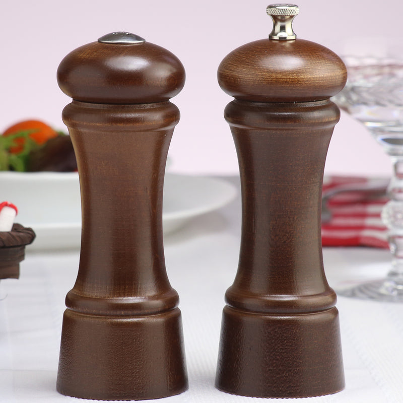 06100 6 Inch Elegance Pepper Mill & Shaker Set, Walnut