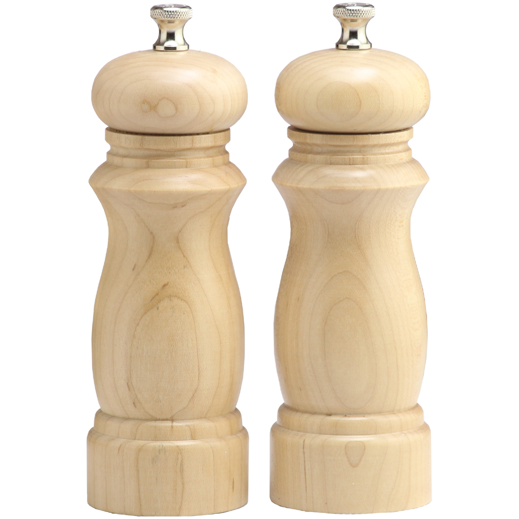 06202 6 Inch Salem Pepper Mill & Salt Mill Set, Natural