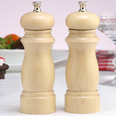 06202 6 Inch Salem Pepper Mill & Salt Mill Set, Natural, Table View