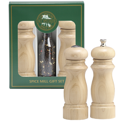 06206 6 Inch Salem Pepper Mill & Salt Shaker Gift Set, Natural