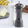 06902 6 Inch Elegance Pepper Mill & Salt Mill Set, Gunmetal + Pearl Metallic, Table View
