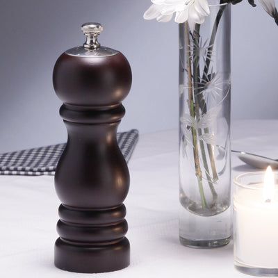 06950 6.5 Inch Duo Pepper Mill & Salt Shaker Combo, Ebony, Table View
