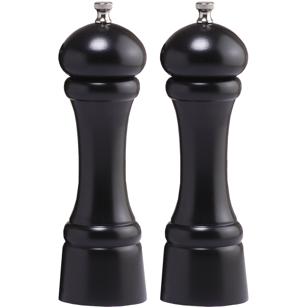 08302 8 Inch Windsor Pepper Mill & Salt Mill Set, Ebony