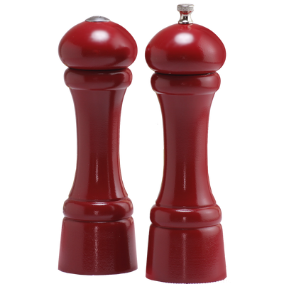 08600 8 Inch Windsor Pepper Mill & Shaker Set, Red