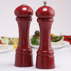 08600 8 Inch Windsor Pepper Mill & Shaker Set, Red, Table View