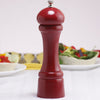 08651 8 Inch Windsor Pepper Mill, Red, Table View