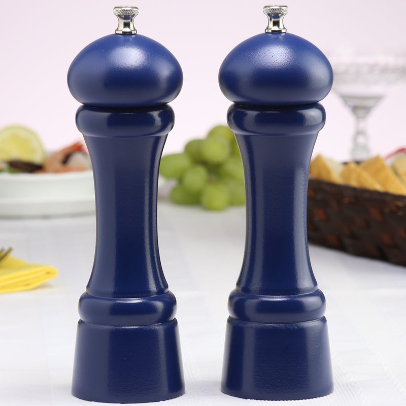 08702 8 Inch Windsor Pepper Mill & Salt Mill Set, Blue
