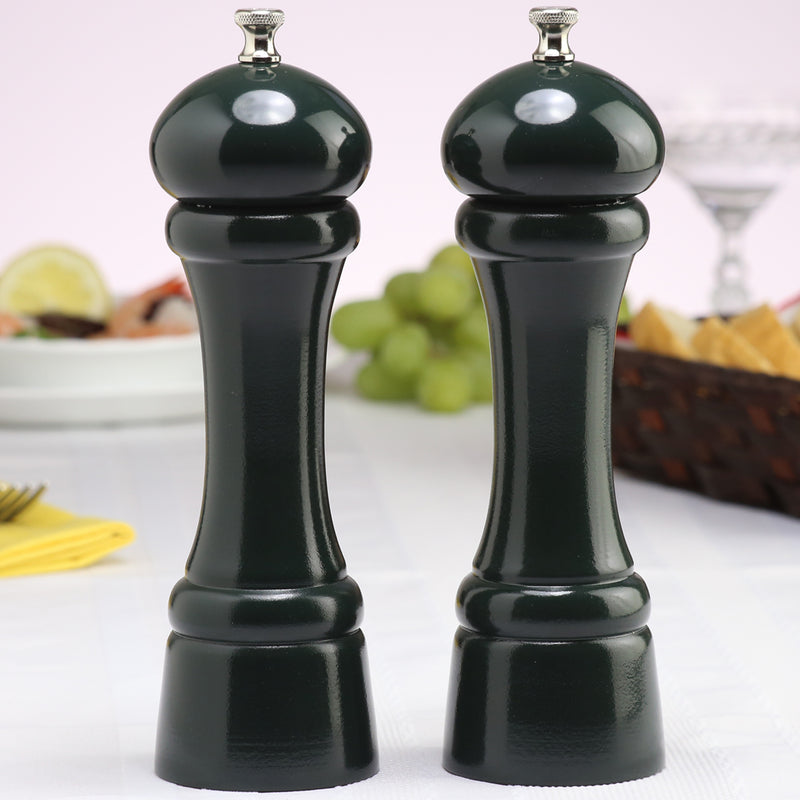 08802 8 Inch Windsor Pepper Mill & Salt Mill Set, Green