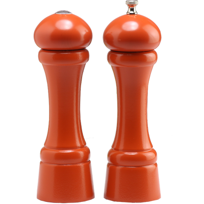 08900 8 Inch Windsor Pepper Mill & Shaker Set, Orange