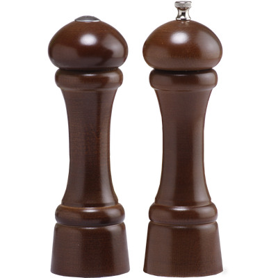 08100 8 Inch Windsor Pepper Mill & Shaker Set, Walnut