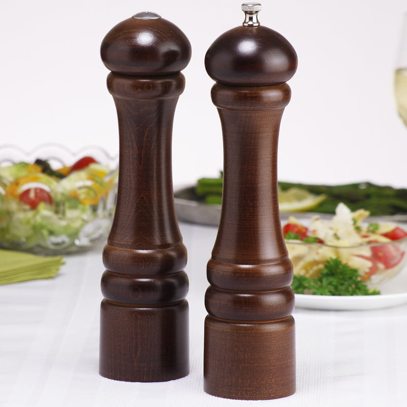 10100 10 Inch Pepper Mill & Shaker Set, Walnut