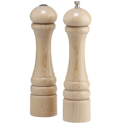 10000 10 Inch Pepper Mill & Shaker Set, Unfinished, Art Ready