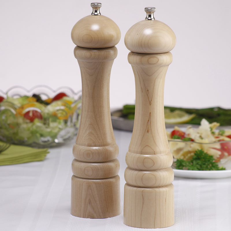 10202 10 Inch Pepper Mill & Salt Mill Set, Natural