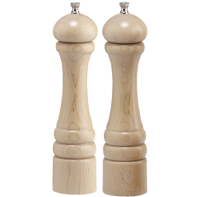 "Chef Specialties 10"" Imperial Pepper Mill & Salt Mill Set - Unfinished - Paint/Stain Ready"