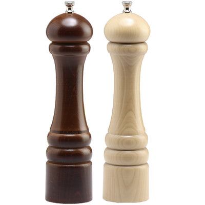 "Chef Specialties 10"" Pepper Mill & Salt Mill Set - Walnut + Natural"