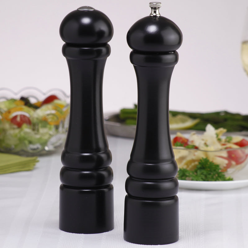 10500 10 Inch Imperial Pepper Mill & Salt Shaker Set, Ebony