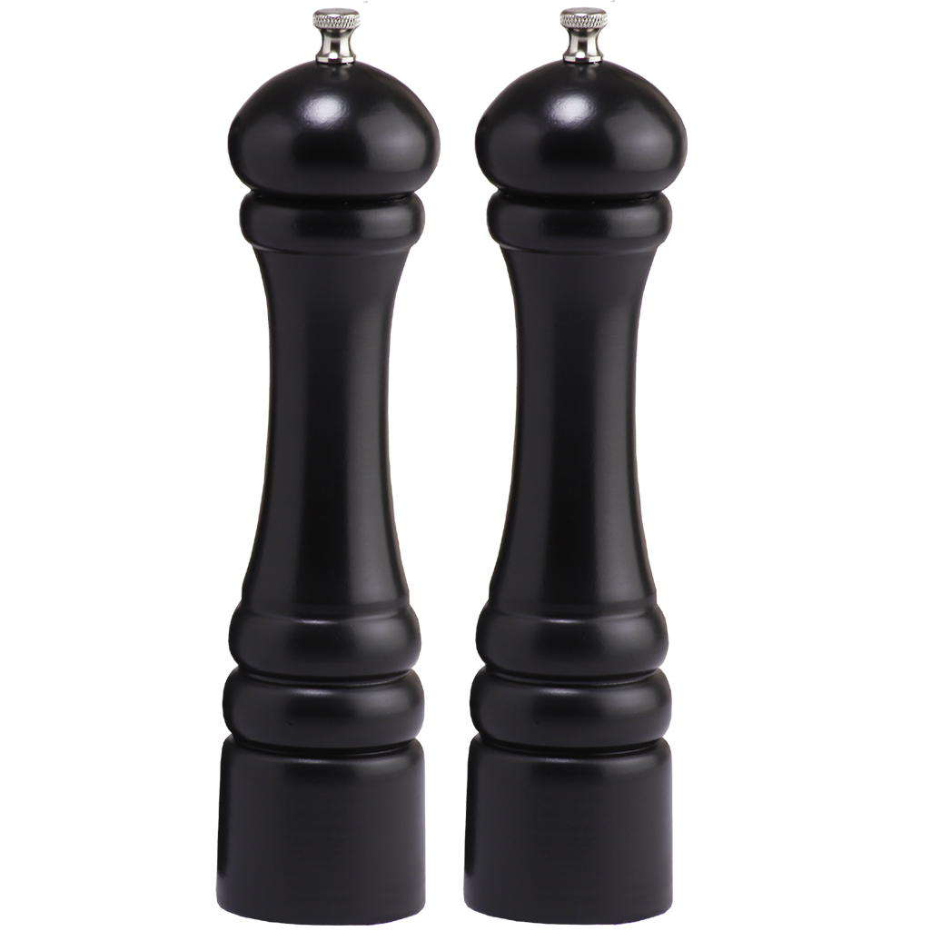10502 10 Inch Pepper Mill & Salt Mill Set, Ebony